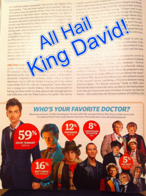 All Hail King David - Entertainment Weekly Poll Aug '12 Like I need a poll to tell me who's Top Doc!