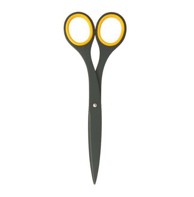 All about the materials. These teflon coated scissors by Hayashi Cutlery will cut through tape without every getting sticky.