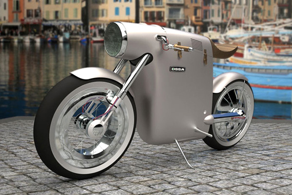 Ossa Monocasco Electric Bike by ART-TIC. What's going on here?