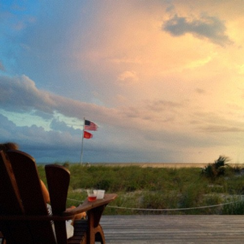 9/11 #Sunset at #MadeiraBeach ~#Day11 #MobiTog #iPhoneography #Instagram #teamrebel #rebelsunitedworldwide #Flag (Taken with Instagram at Madeira Beach)