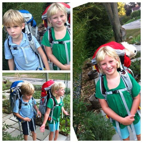 Kids trying out their #Osprey packs. Carrying their own gear on this solo trip with me to the Coconino National Forest in Arizona. #GetOutside #Backpacking #Camping #Healthy #Kids  (Taken with Instagram)