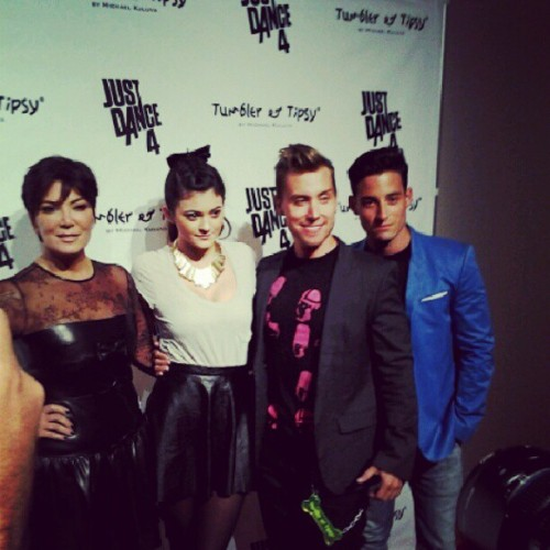 Kris & Kylie Jenner with Lance Bass & boyfriend #NYFW  (Taken with Instagram)