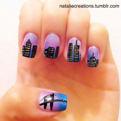 Proud to be a New Yorker! Will post a tutorial to this nail design shortly!