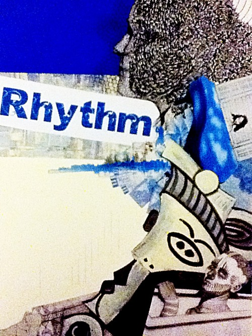 One of my other Collages for Studio Art- Rhythm! It turned out my art teacher really like them! I spent over 2-4 hours for each collage so I'm suuuper glad they turned out well. I've never collaged before, so it was a fun experience! (Photo sucks but oh well!)