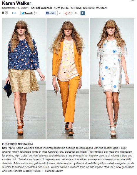 Check out my review of Karen Walker's spring collection as well other awesome reviews on blog.STYLESIGHT.com!