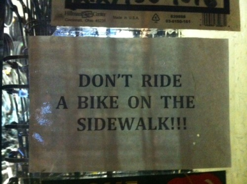 DAY 158: This bike shop sure is strict!!! SPOTTED IN: Midtown West, NYC