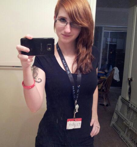 I felt so fierce today with my Halo lanyard and Holly-117 name tag and skinnies.