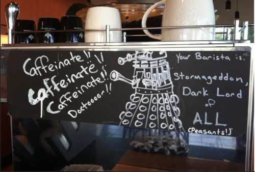 daaaaaaaaaaaaaaalek:  timelordsandfallenangels:  this was at starbucks this morning  im so done  I would like to marry whoever did this.
