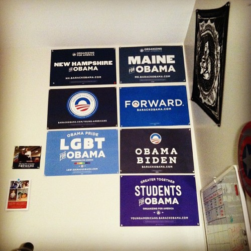 lattedrinkingliberal:  I love my collection. (Taken with Instagram)  Looks like there's room for one more.