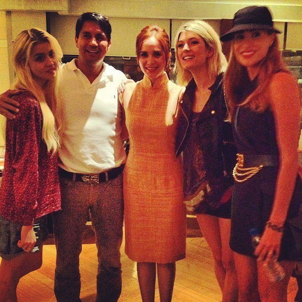 ohohazea:  Lucy Torres-Gomez and Richard Gomez with top models @sophiesumner @Dominiqueantm @alliharvard