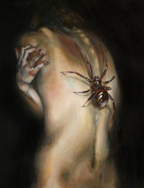 "legacy-of-pain:  the-mad-curator:  [ ""Arachnophobia"", by: Sara Herrmann. ]   ]]>"