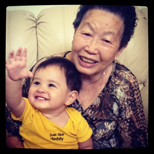 Joey and his great grandma July 2012 (Taken with Instagram)