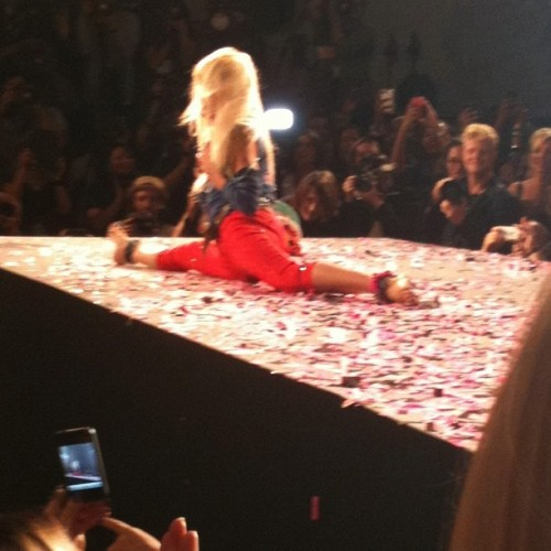 70 years old& Betsey Johnson can STILL do the splits! (Taken with Instagram)