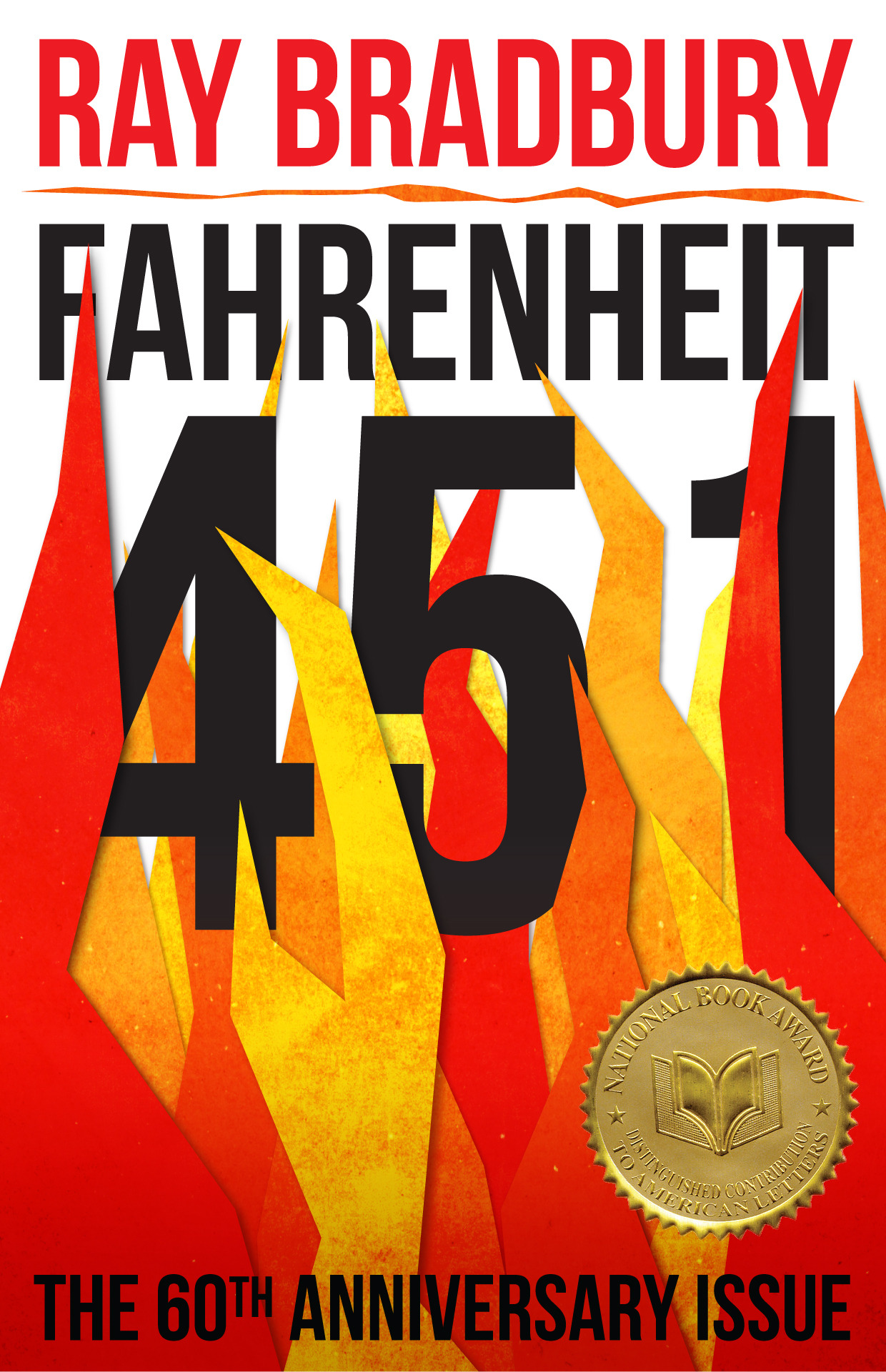 "fahrenheit451jacketcontest:  ""Stylized flames that seem to be made of paper engulf the cover of this classic sci-fi novel."" Sam Richman, Cambridge, MA  ""In celebration of the upcoming 60th anniversary of Ray Bradbury's Fahrenheit 451, Simon & Schuster invites you to design a new cover for this iconic classic."" Cool design contest for book nerds! You know what to do…"