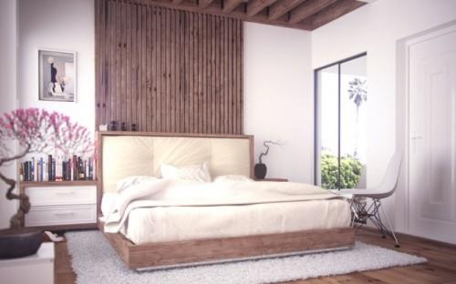 homedesigning:  (via Bonsai In Interior Setting & Wooden Platform Bed)