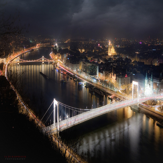 ysvoice:  | ♕ |  Budapest view at night  | by © ildikoneer