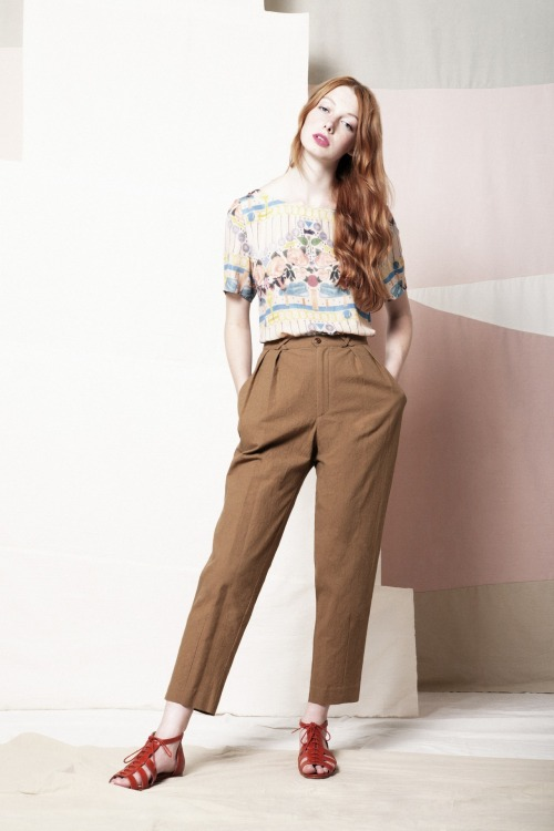 Samantha Pleet GIFT blouse and ROAMING pants SS13