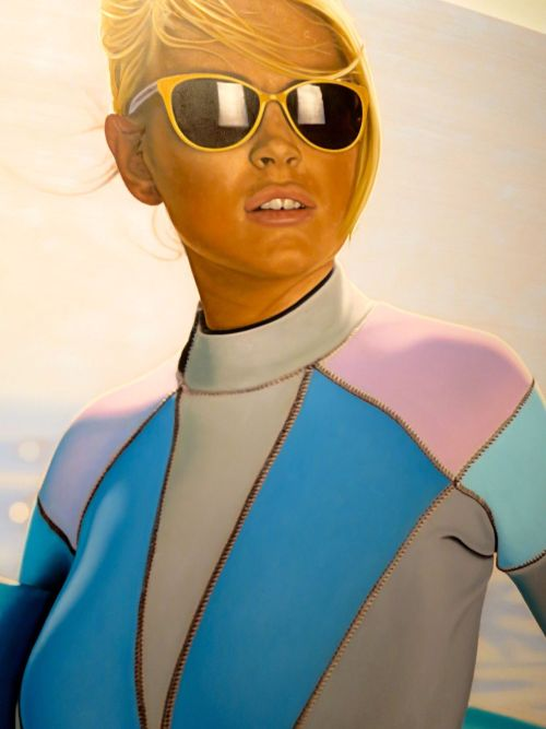 valentineuhovski:  Lindsay by Richard Phillips now at Gagosian.