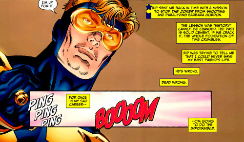 For once in my sad career—I'm going to do the impossible. Booster Gold #9 (2008)