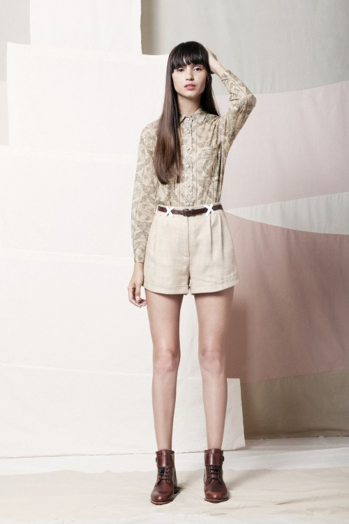 Samantha Pleet CARTOGRAPHY shirt and EXPEDITION shorts SS13