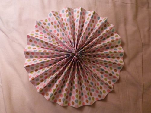 jessthevagabond:  just made this accordion paper flower decoration going to send the pic to my sis and see what she thinks before i make any more.  — i didn't want to spend money on decorations if i can just make stuff myself.   I had to emphasize that last sentence because YES DIY 4 LYFE