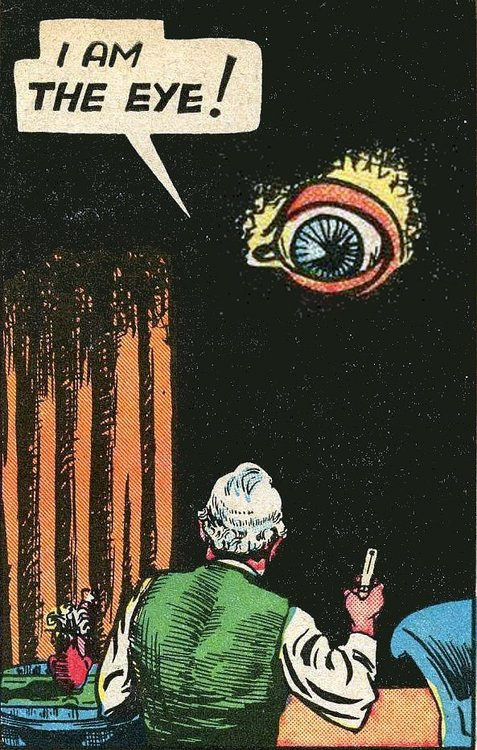 """I am the Eye!"" Yeah, that was my first guess. mostly forgotten Golden-Age superhero The Eye."