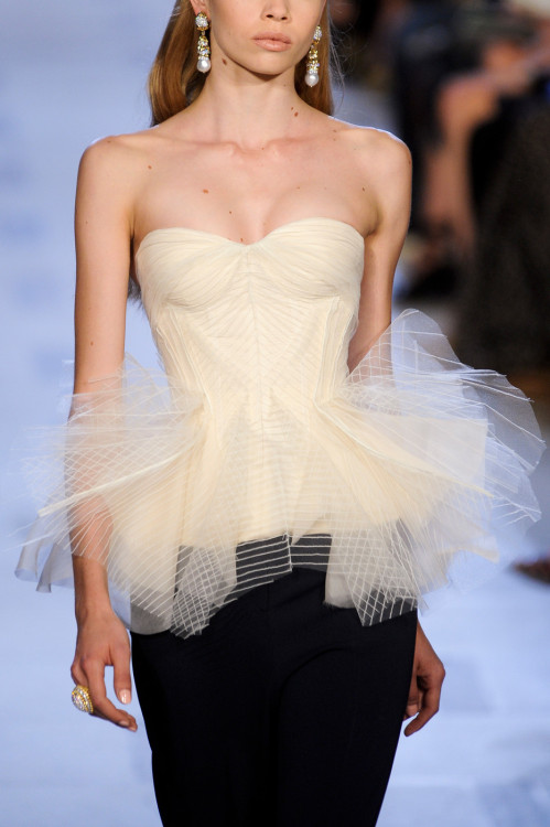 fashioninquality:  Detail at Zac Posen Spring Summer 2013 | NYFW
