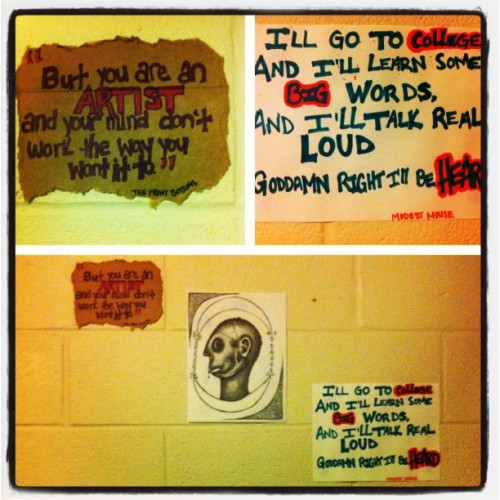 I'm slowly adding to my walls. I NEED MORE CARDBOARD. (Taken with Instagram)