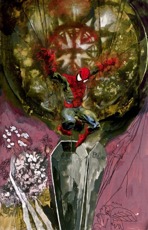 brianmichaelbendis:   Spider-man by Kent Williams