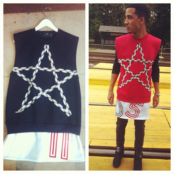 LEOnine  Estillo Star Vest  Comes in Blk and Red  Hit me us for more info LEOnineClothing@gmail.com #style #fashion #boy #leo #star #estrella (Taken with Instagram)