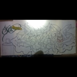 #outline #exchange #graffiti #art #blackbook #ekod #markers #paint #clouds #follow #facebook #tumblr #twitter #instagram @eeerique  (Taken with Instagram)