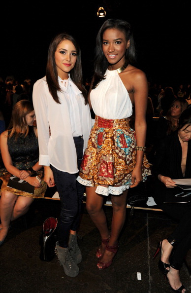 Olivia Culpo and Leila Lopez attend the Sachin + Babi spring 2013 fashion show during Mercedes-Benz Fashion Week» on September 11, 2012 in New York City. (Photo by Craig Barritt/Getty Images)