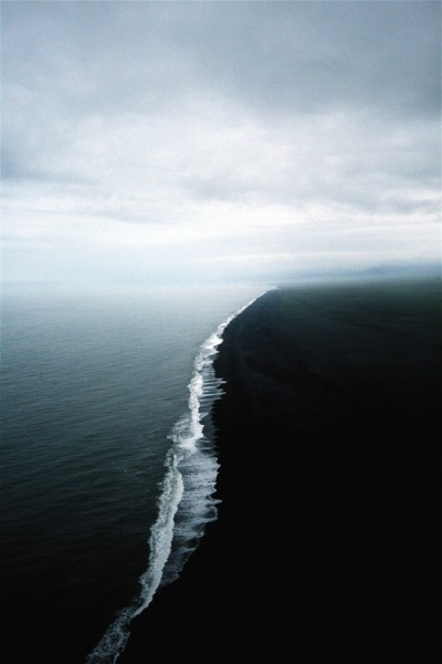 Where two seas of different densities collide, taken off the Alaskan coast.