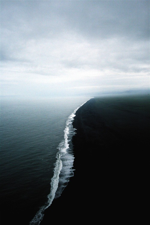 Where two seas of different densities collide, taken off the Alaskan coast.  wow