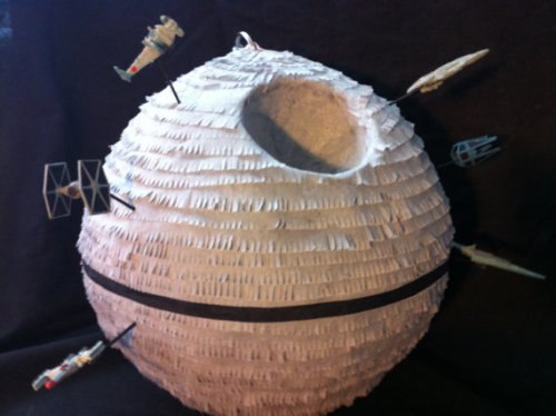 The most needed party feature since cake: Death Star pinata ($50) available from Outofthisworldpinata