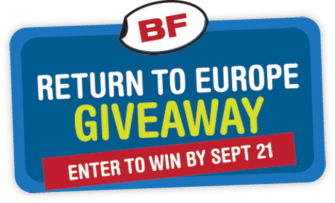 Only 10 days left to enter our summer giveaway! Win a free trip to Europe with BF, Eurail + ExOfficio. Details here: http://www.backpackforever.com/return2europe/.