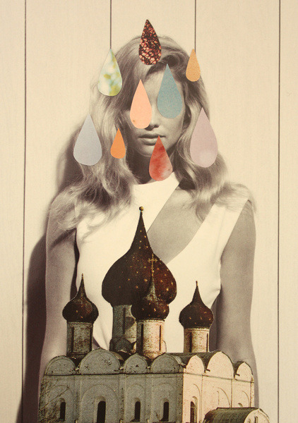 Laura Redburn, also known as cardboardcities, is a 25-year-old collage and mixed media artist currently living in Cardiff, Wales. Color, animals, nature, old films, science fiction, dreams and vivid imagination inspire her. She likes to create snapshots from dreams and other worlds in her work, leaving the viewer to reflect upon their own dreams, imagination and experiences to gather their own meaning from the illustrations. http://cardboardcities.co.uk/