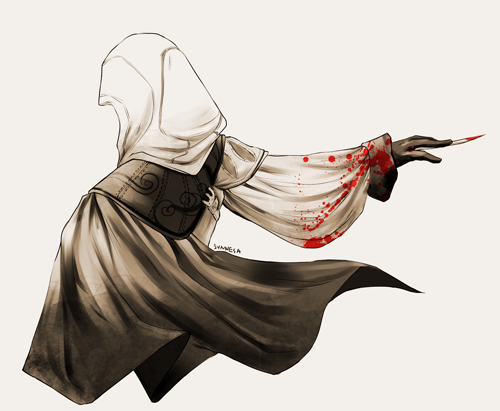 synnesai:  I've been playing assassin's creed lately and i really…like ezio…so….doodled this…. soon…soon i will make a better AC art…. [bigger]
