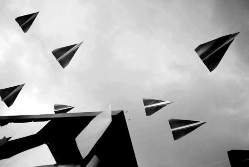 "lensblr-network:  Paper planes, South Bank by pixentient.tumblr.com  This makes me think of ""Sky Captain and the World of Tomorrow."" I have no idea why."