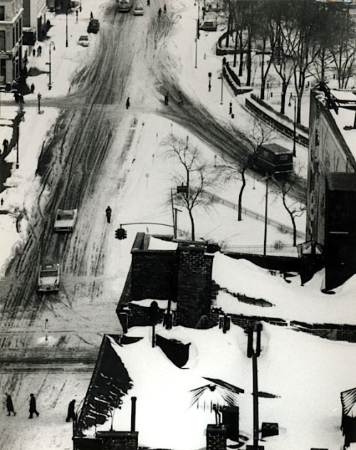 André Kertész Snow Covered Streets and Roof Tops,  January 30, 1961 From Estate of André Kertész: 1952-1972 : New York Period