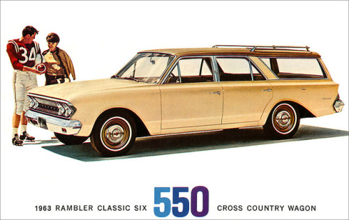1963 AMC Rambler Classic Six Cross Country Wagon postcard. by totallymystified on Flickr.1963 AMC Rambler Classic Six Cross Country Wagon postcard