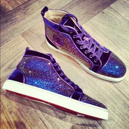 blknblue:  Purple potion #louboutin #christianlouboutin #strass (Taken with Instagram)