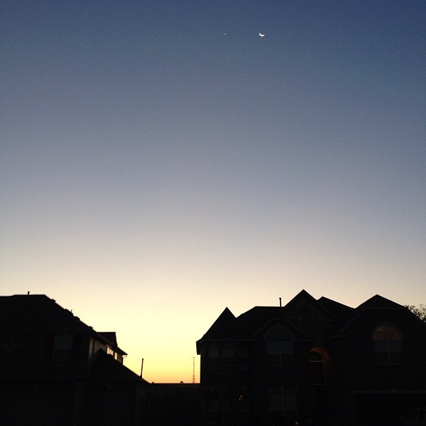 Sunrise over Dallas, the simplest things are the best things.