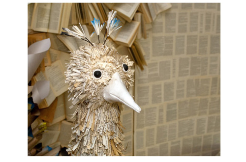 Kate Burger - K8 Vision Paper Bird with Book Page Feathers