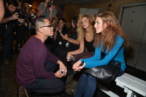 Love this pic of Phillip Lim backstage at his spring show. Photo: Courtesy of Gilt Groupe