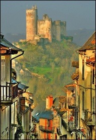 Najac, France. We've been remising about the beautiful french places of our childhood.Alas, we won't be getting to France any time soon, we are far too busy with our restaurant Lyon, NYC, but theres no harm in dreaming.