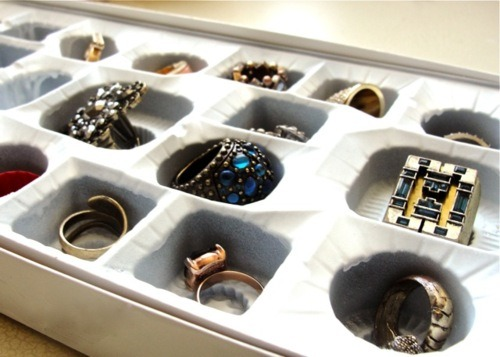 Chocolate Box as Ring Storage