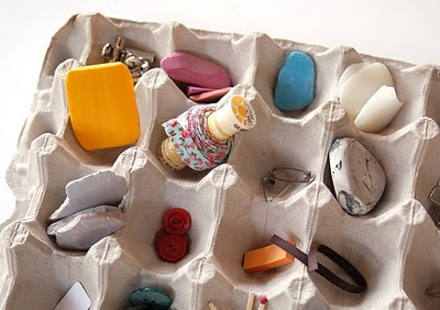 Egg Cartons As Organizers