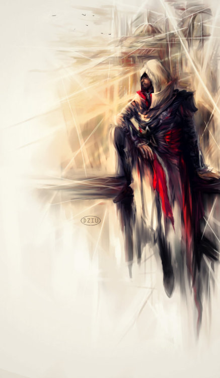 Assassin's Creed - Ezio  Created by DZIU09 (Via: theawkwardgamer)