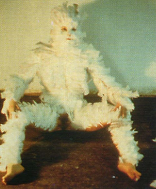 Ana Mendieta, Feathered 1972  We've each played at being the Beast over the years …
